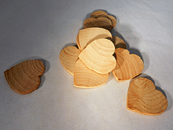 Wood Heart Cut-Out 2 inch | Bear Woods Supply