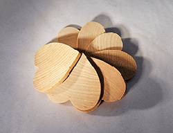 Wood Heart Cut-Out 3 inch   Bear Woods Supply