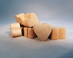 Wood Heart Cut-Out 3/4 inch | Bear Woods Supply