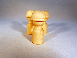 Little Wooden People With Hard Hat | Bear Woods Supply