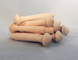 Wooden Birch Shaker Pegs 3-1/2 inch   Bear Woods Supply