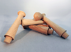 Wooden Birch Shaker Pegs 5-1/4 inch | Bear Woods Supply