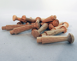 Wooden Oak Shaker Pegs 1-3/4 inch | Bear Woods Supply