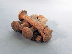 Wooden Oak Shaker Pegs 2-1/2 inch | Bear Woods Supply