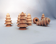 Wooden turned Christmas trees | Bear Woods Supply