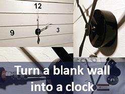 Mounting kits to make wall clocks