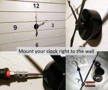 Wall clocks Mounting Kits