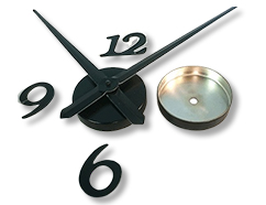 Wall Mounted Clock Kit Numbers