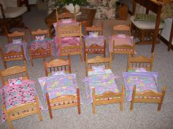 Wooden Doll Beds Lash Rosengrant with Bear Woods Spindles