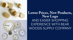 Bear Woods lower prices on clock inserts