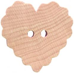 ruffled heart buttons