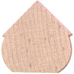 wood birdhouse shape cutout