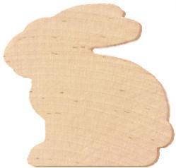 wood bunny shape cutout