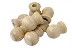 Wood Dowel Cap 19/32 Diameter with a Flat Top. Fits 1/4 Dowel (Per 25)