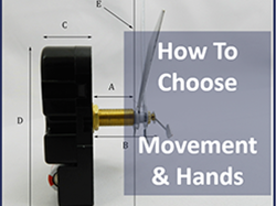 how to choose clock movements and hands