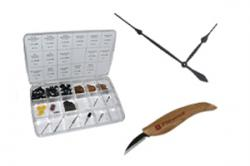 Woodworking kits, rotary tool packs