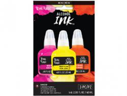 Alcohol Ink - Neon - Pink, Yellow, Orange (3 Pack)