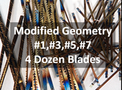 Sample Packs of Pegas Modified Geometry Scroll Saw Blades