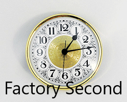 4-1/4 (108 mm) Premium Brass, White Fancy Arabic Fitups - Factory Second*
