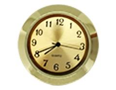 1-7/16 Gold Arabic Clock Insert - Brass Color Bezel