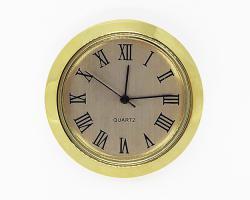 1-7/16 Gold Roman Clock Insert - Gold Bezel