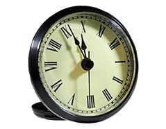 2-7/8 Ivory Roman Clock Insert - Black Bezel