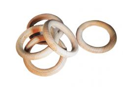 Wooden Rings, 3 Made of Maple in the USA (Per Piece)