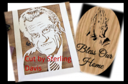 Scroll saw patterns by Charles Dearing.  Billy Graham Portrait