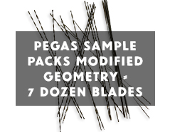 Pegas Scroll Saw Blades sample Pack modified geometry
