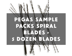Pegas Spiral Blades Sample Pack #2/0,#0,#1,#3,#5