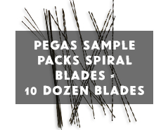 Pegas Spiral Blades Sample Pack