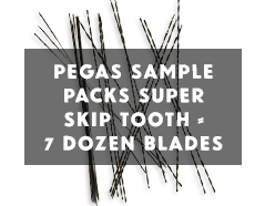 Pegas Super Skip Scroll Saw Blades Sample Pack