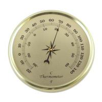 Thermometer clock inserts gold 2 inches
