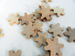 Wooden Snowflakes Christmas Decorations | Bear Woods Supply