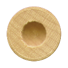 ".525 by 1/4"" Wooden Toy Wheel Axle Cap"