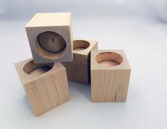 Wooden tealight Block | Bear Woods Supply