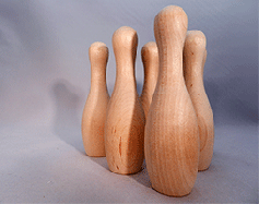 Wooden Bowling Pins Large | Bear Woods Supply
