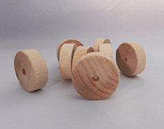 Smooth Flat Faced Toy Wood Wheels | Bear Woods Supply