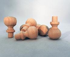 Wooden Finials  7/8 inch | Bear Woods Supply