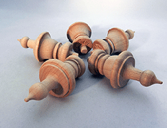 Wooden Finials  1-11/16 inch | Bear Woods Supply