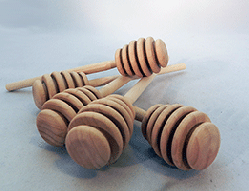 Unfinished Wooden Honey Dippers 6 inch | Bear Woods Supply