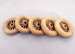 Wooden Spoked Wheels 2-3/4 inch | Bear Wood Supply