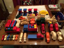 Wooden toy parts for kids toys