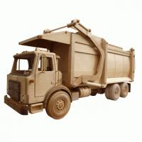 Wooden toy pattern garbage truck toys and joys | Bear Woods Supply