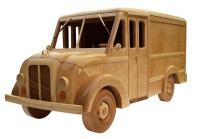 Wooden toy patterns milk truck from 1950s | Bear Woods Supply