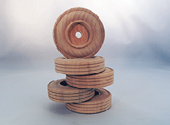 Treaded Wood Wheels 2-3/4 inch | Bear Wood Supply