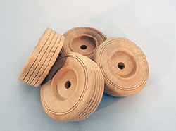 Treaded Wood Wheels 3 inch | Bear Wood Supply