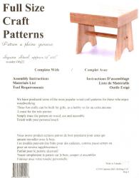 SQUARE STOOL PLAN                     (Closeout Sale)