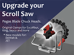 Pegas Scroll Saw Blade Clamps