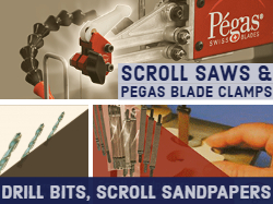 Scroll Saws and Accessories Pegas